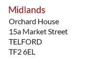 UK Mail Centre address example - Telford, Midlands